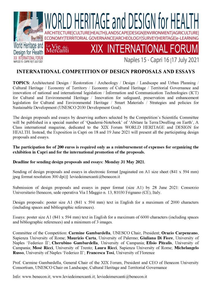 EN INTERNATIONAL COMPETITION OF DESIGN 2021